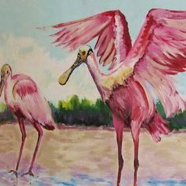 Cynthia Guinn - Two Spoonbills