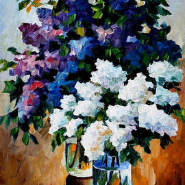 Leonid Afremov - Two Spring Colors - PALETTE KNIFE Oil Painting On Canvas By Leonid Afremov