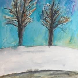 Esther Newman-Cohen - Two Trees in Winter