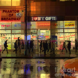 Miriam Danar - Umbrella Parade - New York in the Rain
