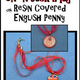 Carla Parris - Union Jack Pendant on English Copper Penny