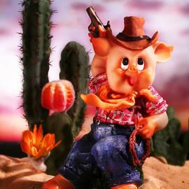 Diane Bradley - Cowboy pig