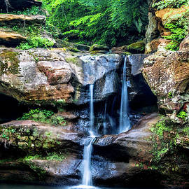 Optical Playground By MP Ray - Upper Falls At Hocking Hills