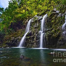 Jamie Pham - Upper Waikani Falls - the stunningly beautiful Three Bears found in Maui.