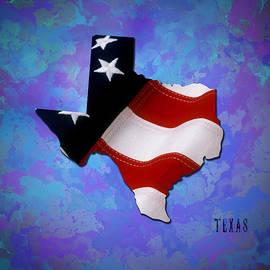 Georgeta Blanaru - USA FlagTexas State digital artwork
