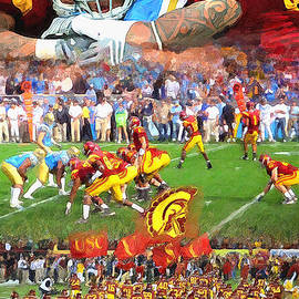 John Farr - USC Football Collage
