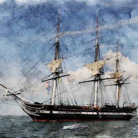 EricaMaxine  Price - USS Constitution on Canvas - Featured in