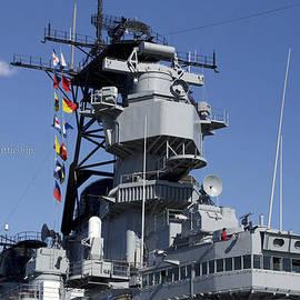 Thomas Woolworth - USS Iowa Battleship Starboardside Bridge 02