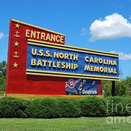 Bob Sample - U.S.S. North Carolina Battleship Sign