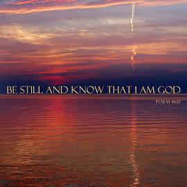 David T Wilkinson - Vapor Trail Sunset - Psalm 46