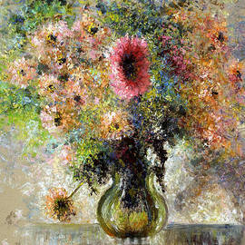 Pierre VALLON - Vase Of Flowers From My Garden