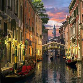 Venice At Dusk - Fine Art