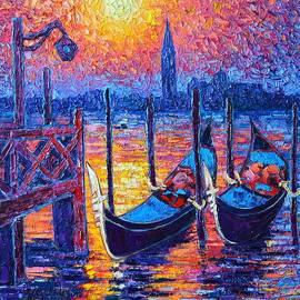 Ana Maria Edulescu - Venice Mysterious Light - Gondolas And San Giorgio Maggiore Seen From Plaza San Marco