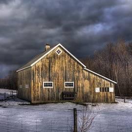 Joann Vitali - Vermont Barn in Snow - Stowe Vermont
