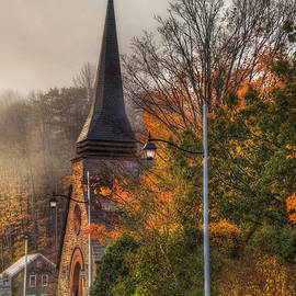 Joann Vitali - Vermont Church in Autumn