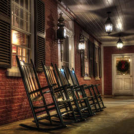 Joann Vitali - Vermont Front Porch with Rocking Chairs