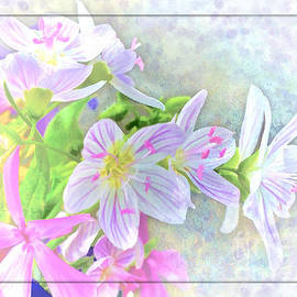 Debbie Portwood - Very Tiny Wildflower boquet Digital paint
