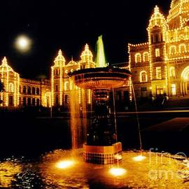John Malone - Victorain Fountain at Night