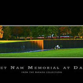 Joe Paradis - Viet Nam Memorial Wall at Dawn