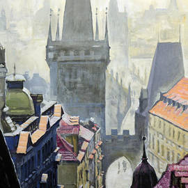 Yuriy Shevchuk - View from the Mostecka street in the direction of Charles Bridge
