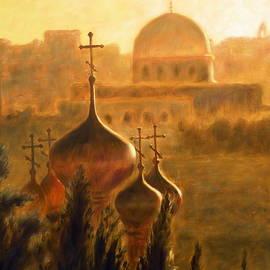 Uma Krishnamoorthy - View from the Mount of Olives Jerusalem