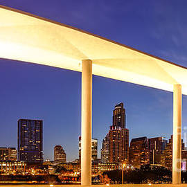 Silvio Ligutti - View of Downtown Austin Skyline from the Long Center - Texas Hill Country - Austin Texas