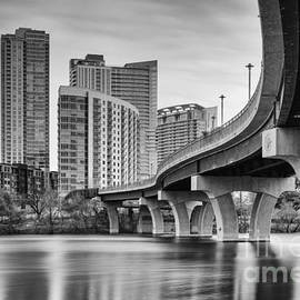 Silvio Ligutti - View of the James D. Pfluger Pedestrian Bridge Over Lady Bird Lake - Austin Texas Hill Country