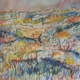 Esther Newman-Cohen - View of the Old City of Jerusalem