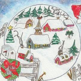 Dominique Fortier - Village sous la neige / Village in Snow