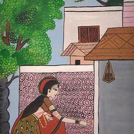 Artist Nandika  Dutt - Village_Indian_women