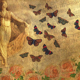 Peggy Collins - Vintage Dancer and Butterflies