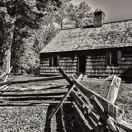 Paul Ward - Vintage Farm House in Black and White