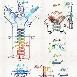 Sharon Cummings - Vintage Fashion Art - Zipper Patent - By Sharon Cummings
