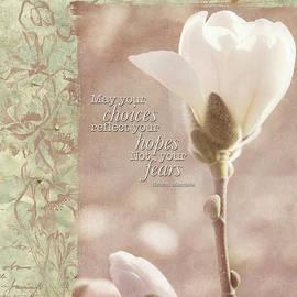 Jordan Blackstone - Vintage Flower Art - Reflect Your Hopes