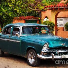 Les Palenik - Vintage Green Plymouth - painterly
