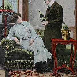Vintage Handtinted Postcard Of 1904 Of Two Lovers
