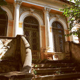 Vlad Baciu - Vintage House With Corinthian Columns And Concrete Stairs