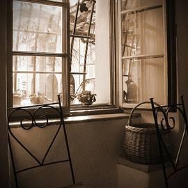 Vlad Baciu - Vintage Interior With A Wooden Framed Window