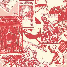 Douglas MooreZart - Vintage Italian Stamp Collage