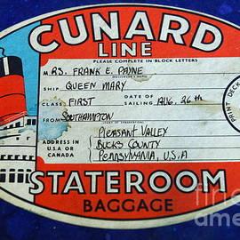 Paul Ward - Vintage Luggage Label