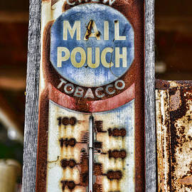 Paul Ward - Vintage Metal Mail Pouch Tobacco Thermometer
