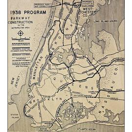 Susan Leggett - Vintage Newspaper Map