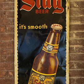 Greg Kluempers - Vintage Old Drink Stag Beer Sign DSC07183