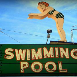 Karyn Robinson - Vintage Swimming Lady Hotel Sign