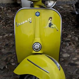 Nomad Art And  Design - Vintage Yellow Vespa