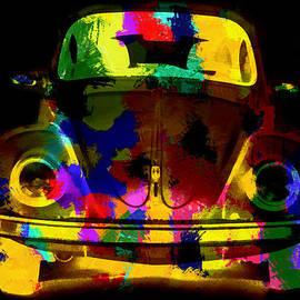 Eti Reid - Volkswagen beetle colorful abstract on black