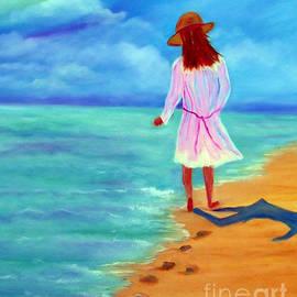 Janice Rae Pariza - Walk With Me Oil on Canvas