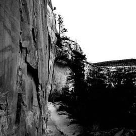Jeff  Swan - Walking Into Sipupu Canyon Black And White
