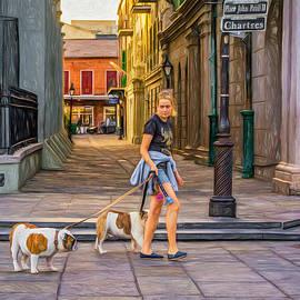 Steve Harrington - Walking the Dogs in Jackson Square - Paint