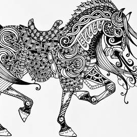 Jani Freimann - War Horse - Zentangle
